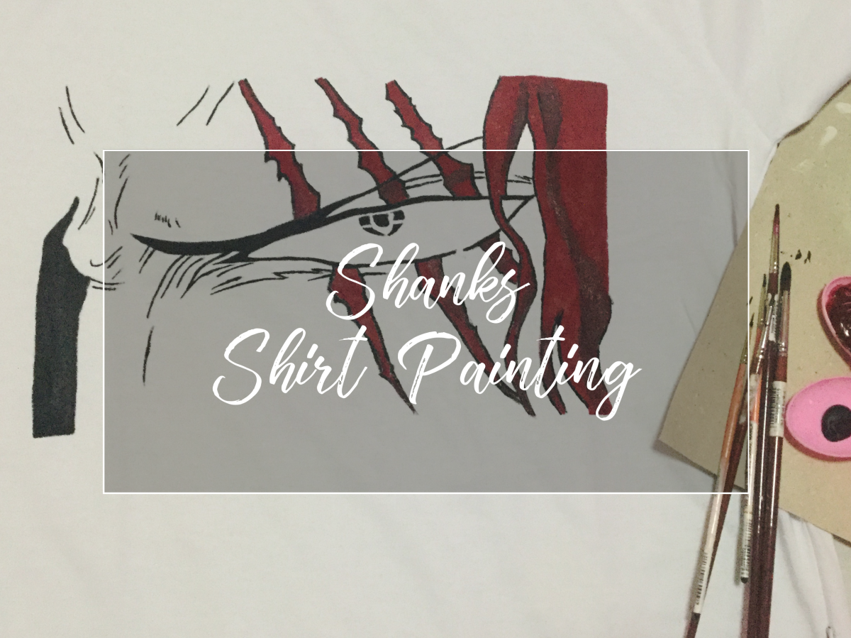 Red Haired Shanks - Freehand Shirt Painting